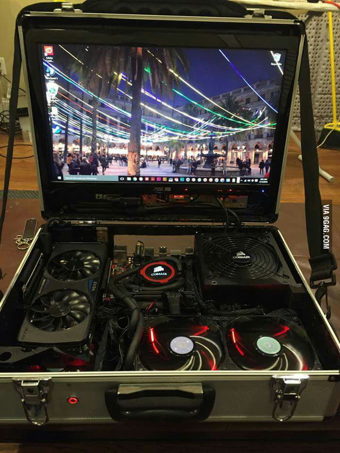 portable console b tch pls this is a portable 4k master race machine 9gag. Black Bedroom Furniture Sets. Home Design Ideas