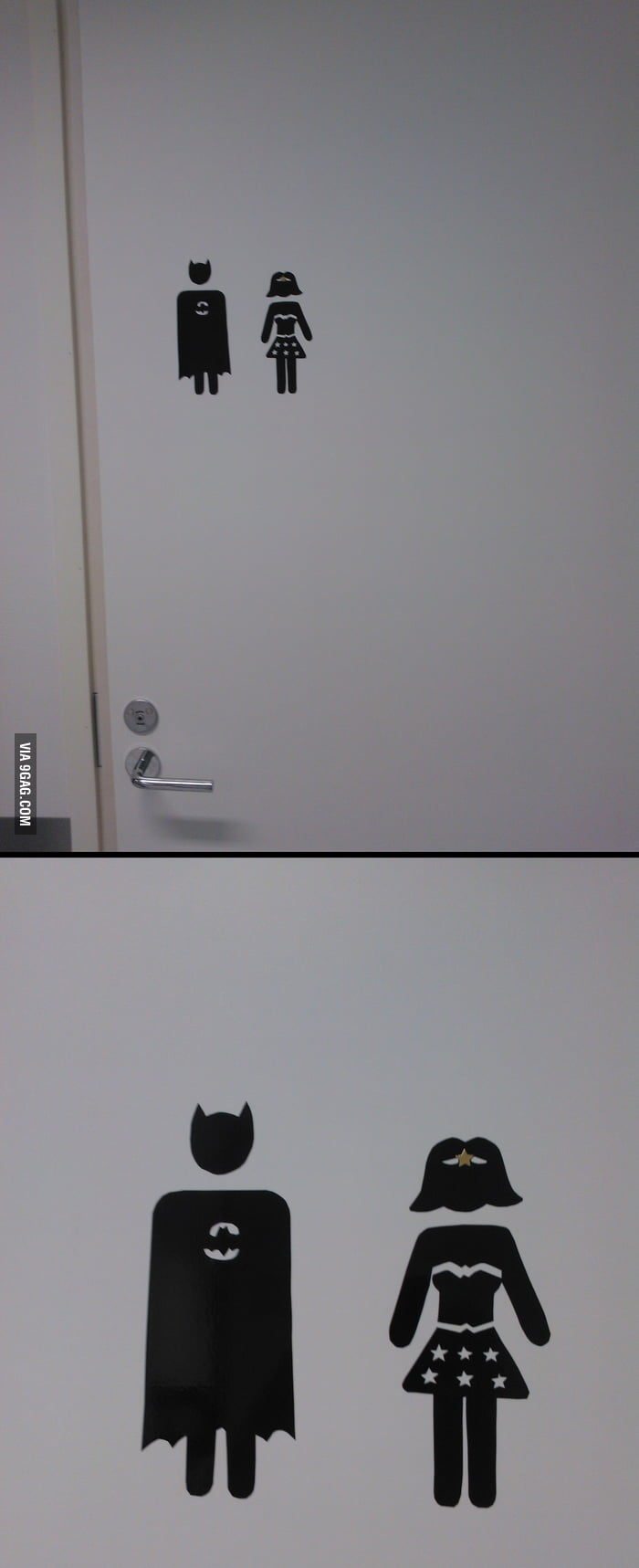 Official staff bathroom door signs at finland 39 s newest for Bathroom 9gag