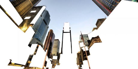 Times Square with adblock