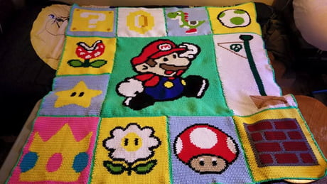 My mom made me a Mario Blanket!