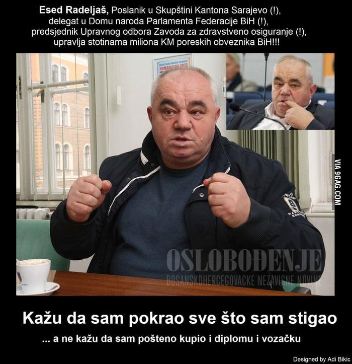 Esed Radeljas, politicar, Bosna I Hercegovina, parlamentarac Fedaracije (FBiH), Skupstina Kantona Sarajevo