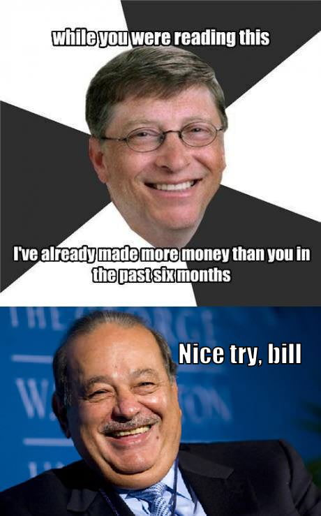 Carlos Slim Helú REPLIES Bill Gates