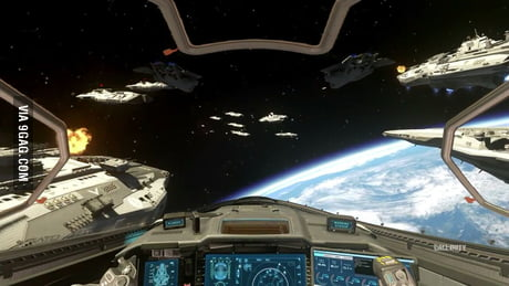 The space battles in the new Call of Duty look an awful lot like Star Wars