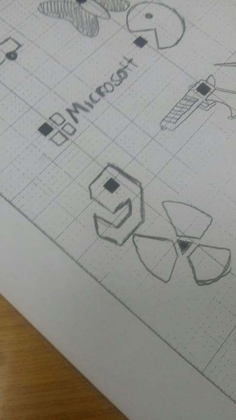 Had to draw this in one of my test. A for creativity