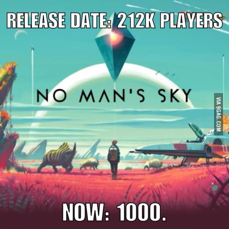 No Man's Sky has lost 94% of its players within 42 days (Steam only)