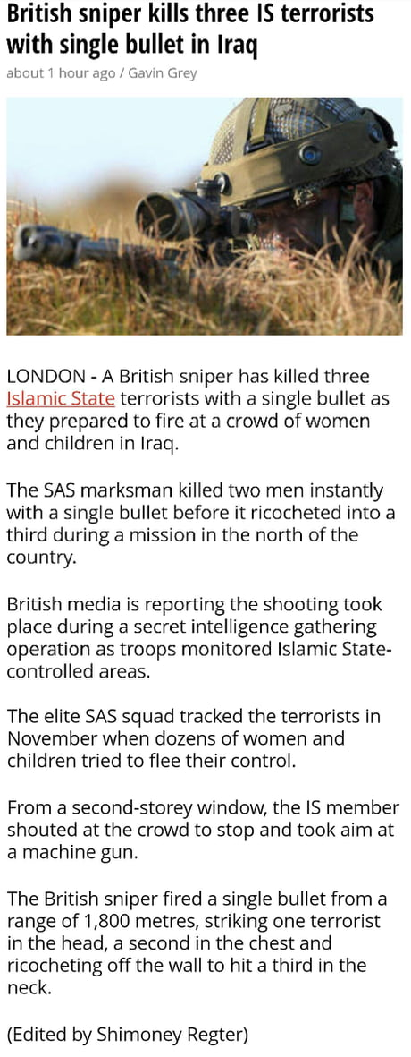 Tha British SAS Squad are not to be f**ked with.