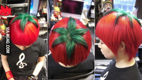 People are running out of ideas: Tomato hair style