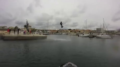 Ride over water with Flyboard