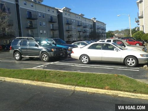 Assigned parking spaces