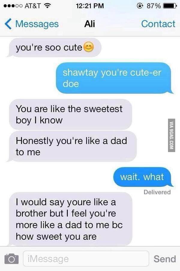 DAD ZONED a new kind of embarrassment