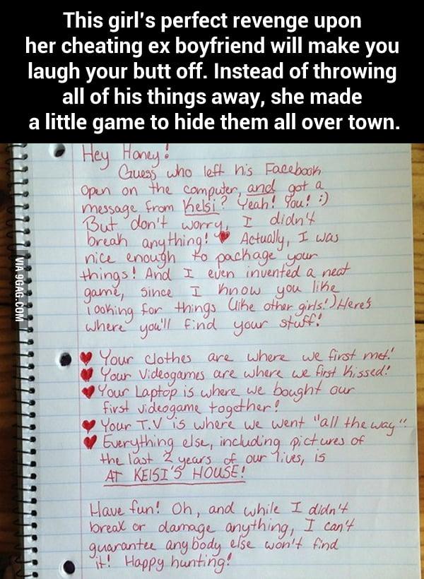 Revenge On Cheating Boyfriends Facebook
