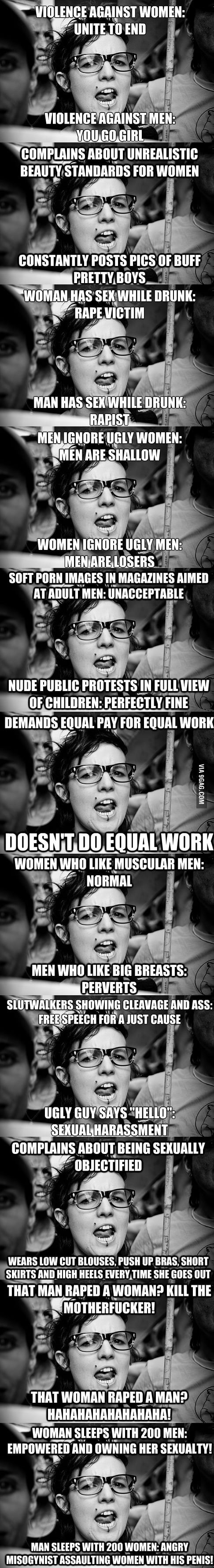 Hypocrite feminist meme compilation saved the best for last 9gag