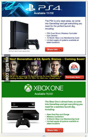 Buy a PS4 and get 12 months xbox live!