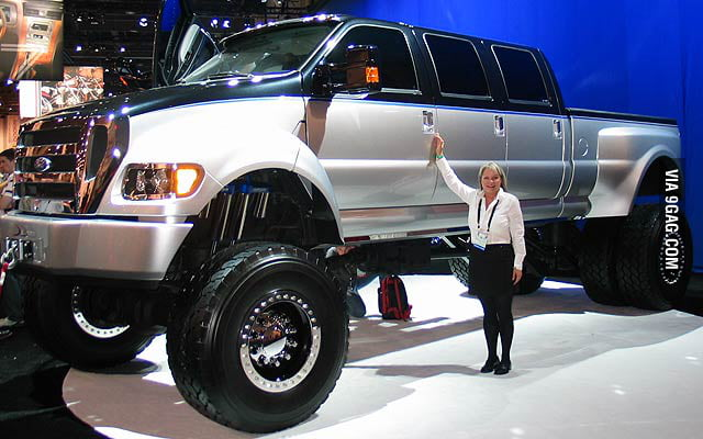 I present to you, the fully street legal Ford f650.