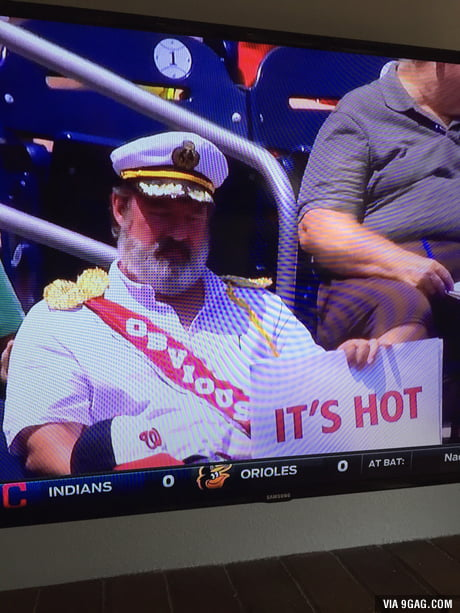 Captain Obvious at today's Padres vs. Nationals game.