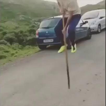 Riding a stick