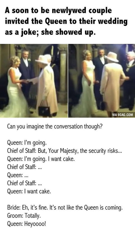 That time when the Queen went to a wedding