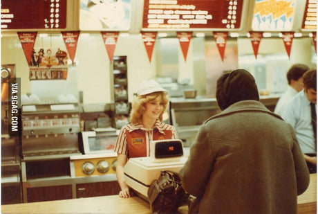 McDonald's Cashiers (1980s) looks so happy before. I wonder what happened…