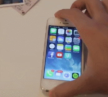 Problems reported when swiping iPhone screen too hard