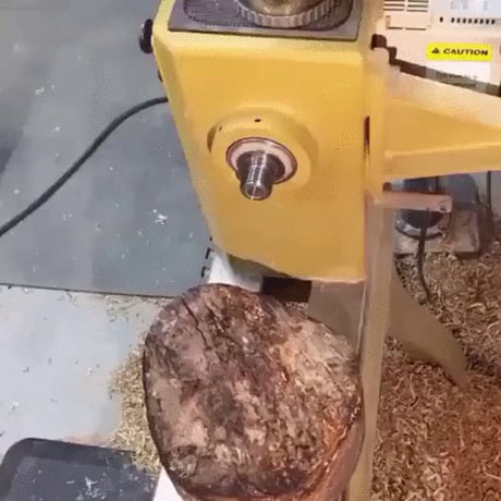 how to cut a log for bowl turning