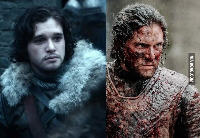 jon snow season 1 and season 6 9gag