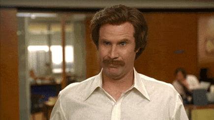When my wife tells me I peed on my pants a bit.