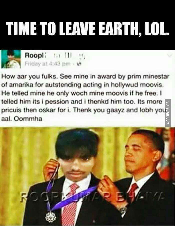 It's time to leave earth??