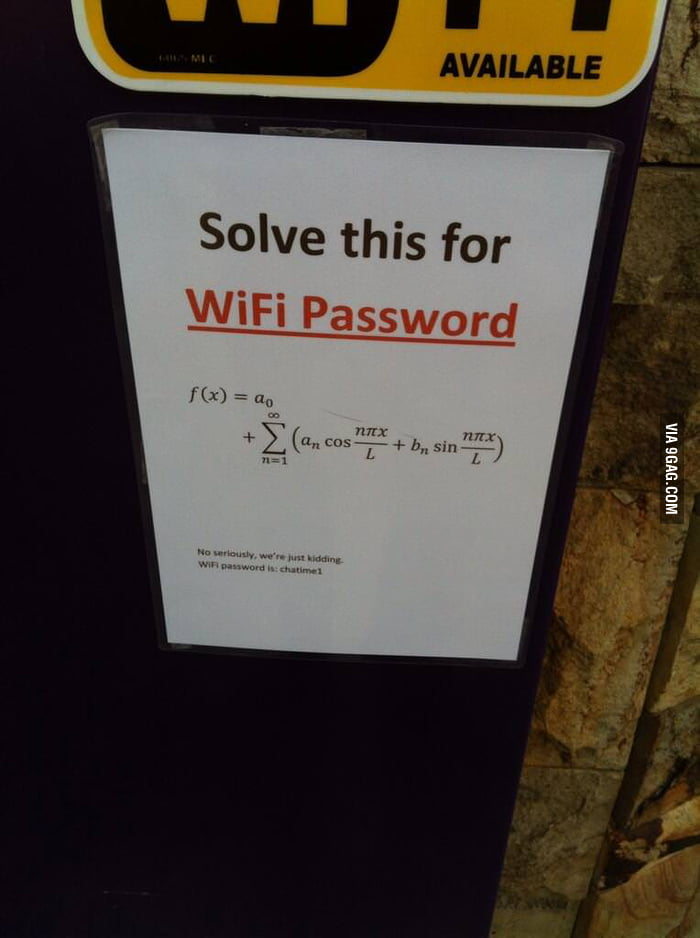 how to get password for wifi your on