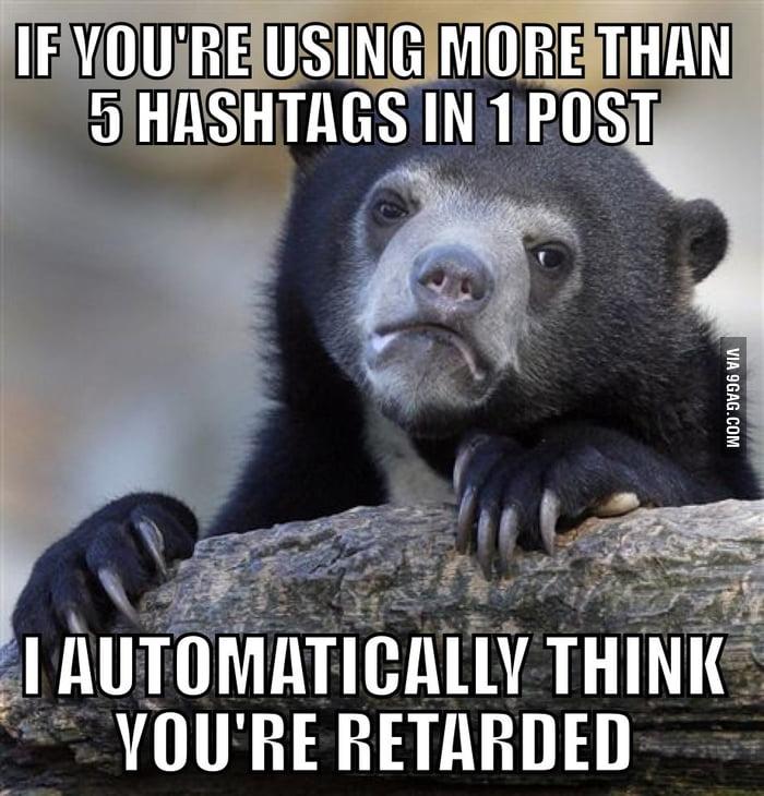 5 hashtag rule