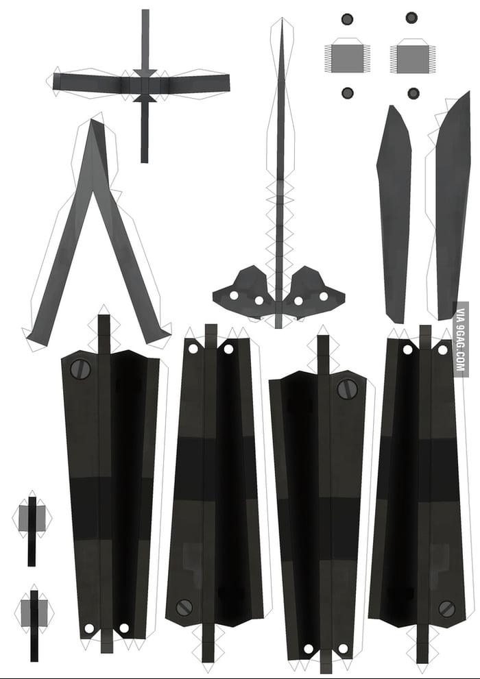 free diy papercraft cs go spy s butterfly knife template 9gag. Black Bedroom Furniture Sets. Home Design Ideas