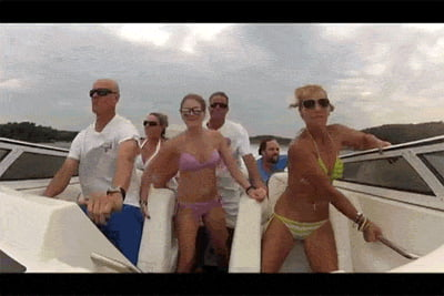 Boat trip is fun they said