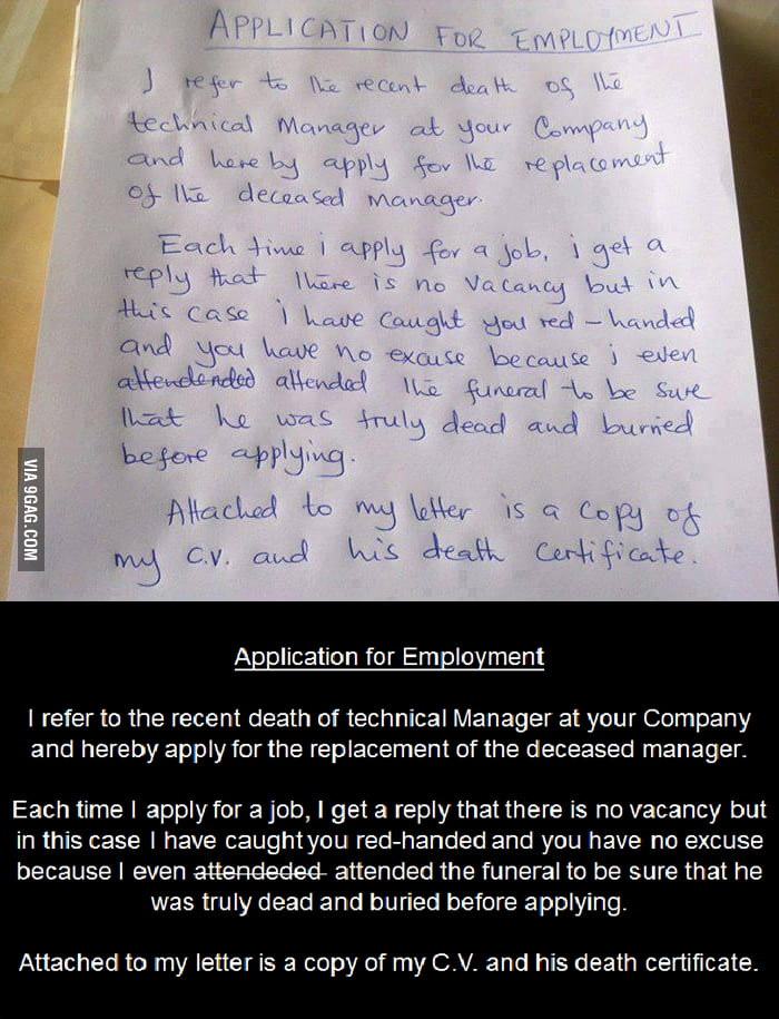 best cover letter 9gag