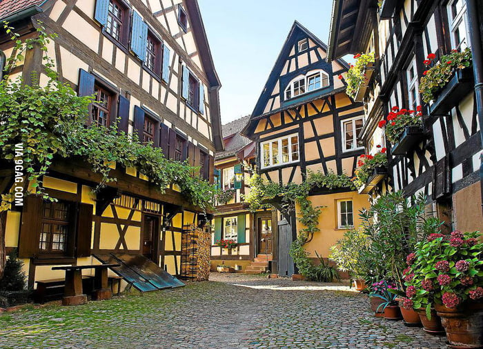 a beautiful 13th century village in baden w rttemberg germany 9gag. Black Bedroom Furniture Sets. Home Design Ideas