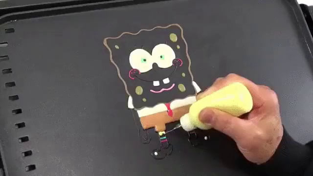 how to make spongebob pancakes