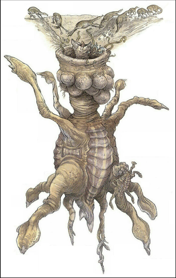 the sarlacc pit monster from the return of the jedi