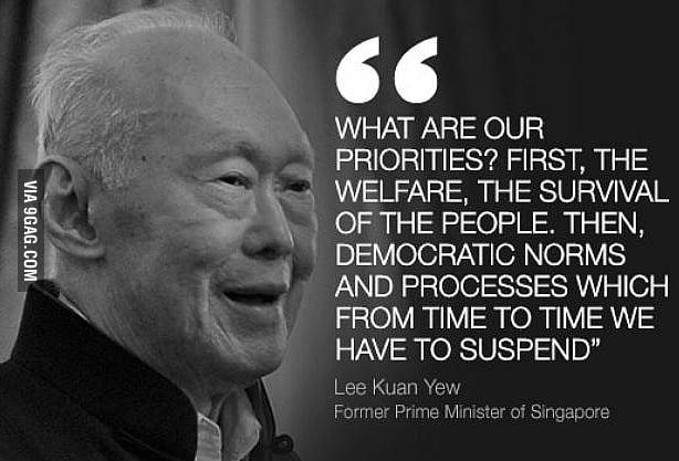 R.I.P. Lee Kuan Yew, the benevolent dictator