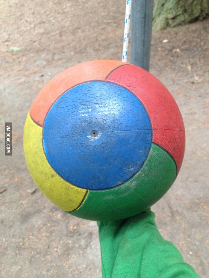 i found an old tetherball that looks like the google