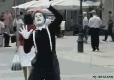 That pantomimist got owned