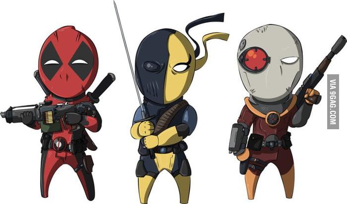 Deadpool vs Deathstroke vs Deadshot. Set in an abandoned ...