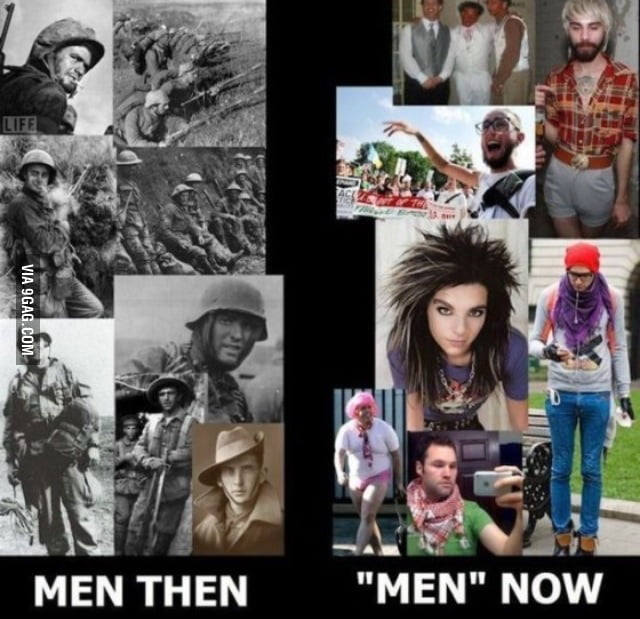 Männer damals und heute