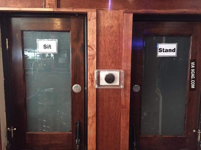 My partner had already solved the transgender bathroom for Bathroom 9gag