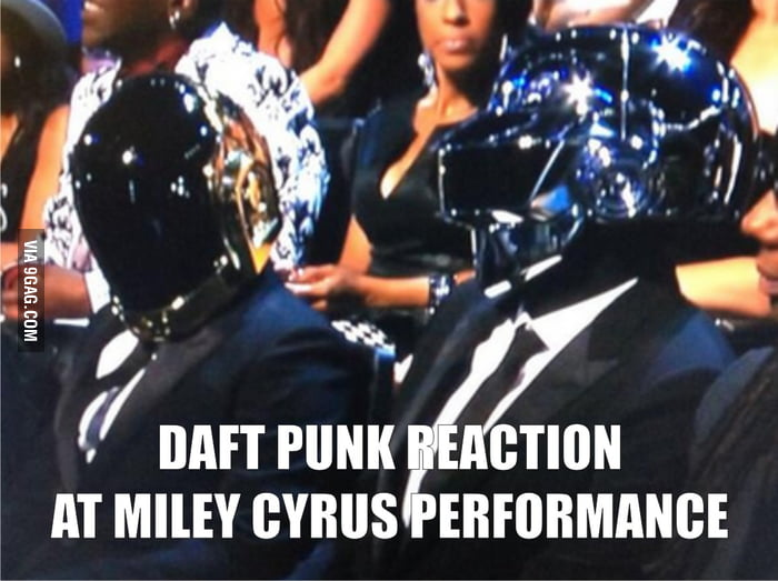 Daft Punk reaction at Miley Cyrus…