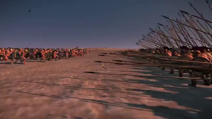 Total War: Rome 2 - Charging a pike phalanx, HEAD ON!