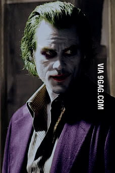 Jim Carrey as The Joker - 9GAG Adrien Brody Instagram