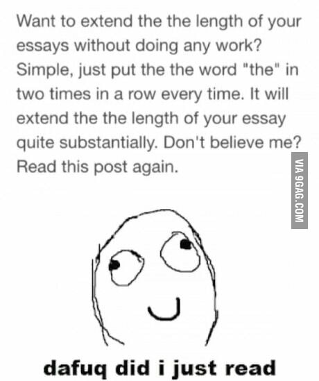 i tried this and my english teacher didn    t read the essay twice    i tried this and my english teacher didn    t  the essay twice