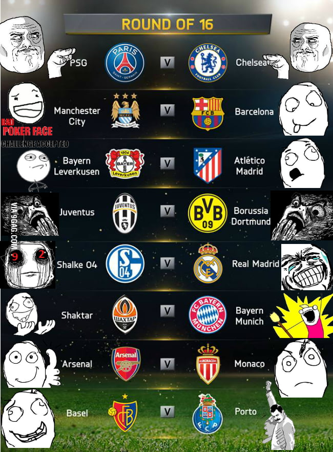 Uefa champions league round of 16 9gag