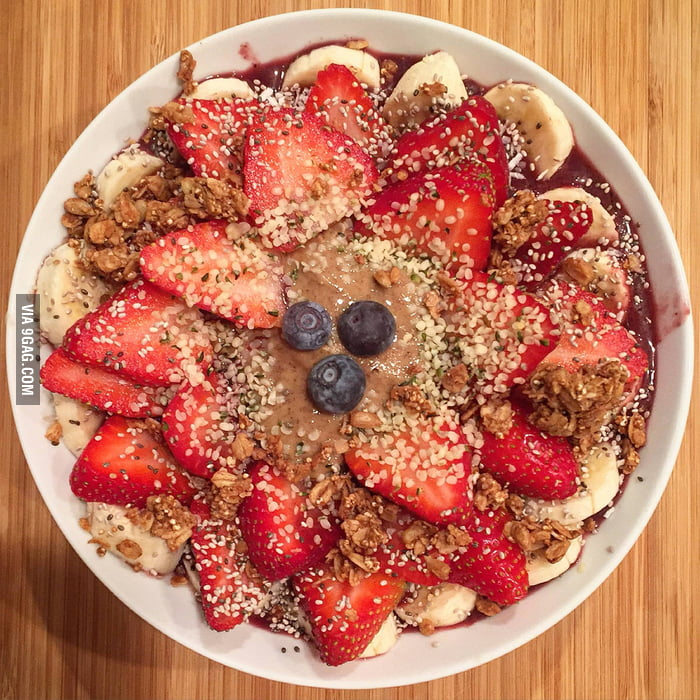 ... , almond butter, coconut flakes, chia seeds, hemp seeds, and granola
