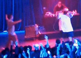 Action Bronson throws a fan off of the stage at his show