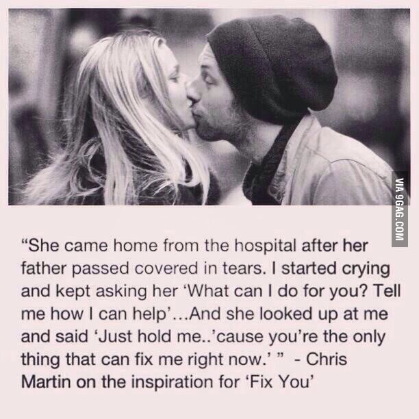 Inspiration for Fix You- Coldplay