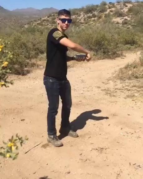 Shotgunning a beer